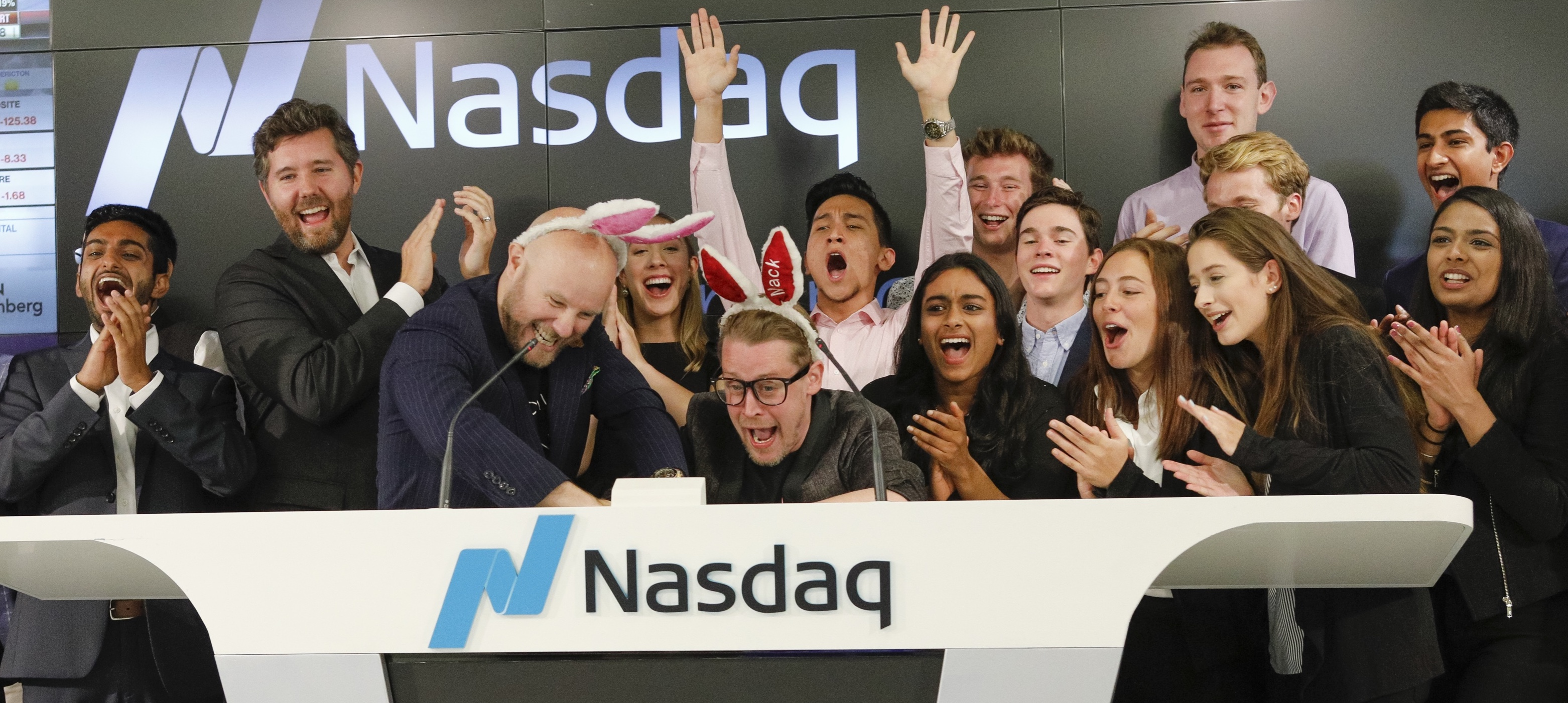 Nasdaq closing bell ceremony in San Francisco