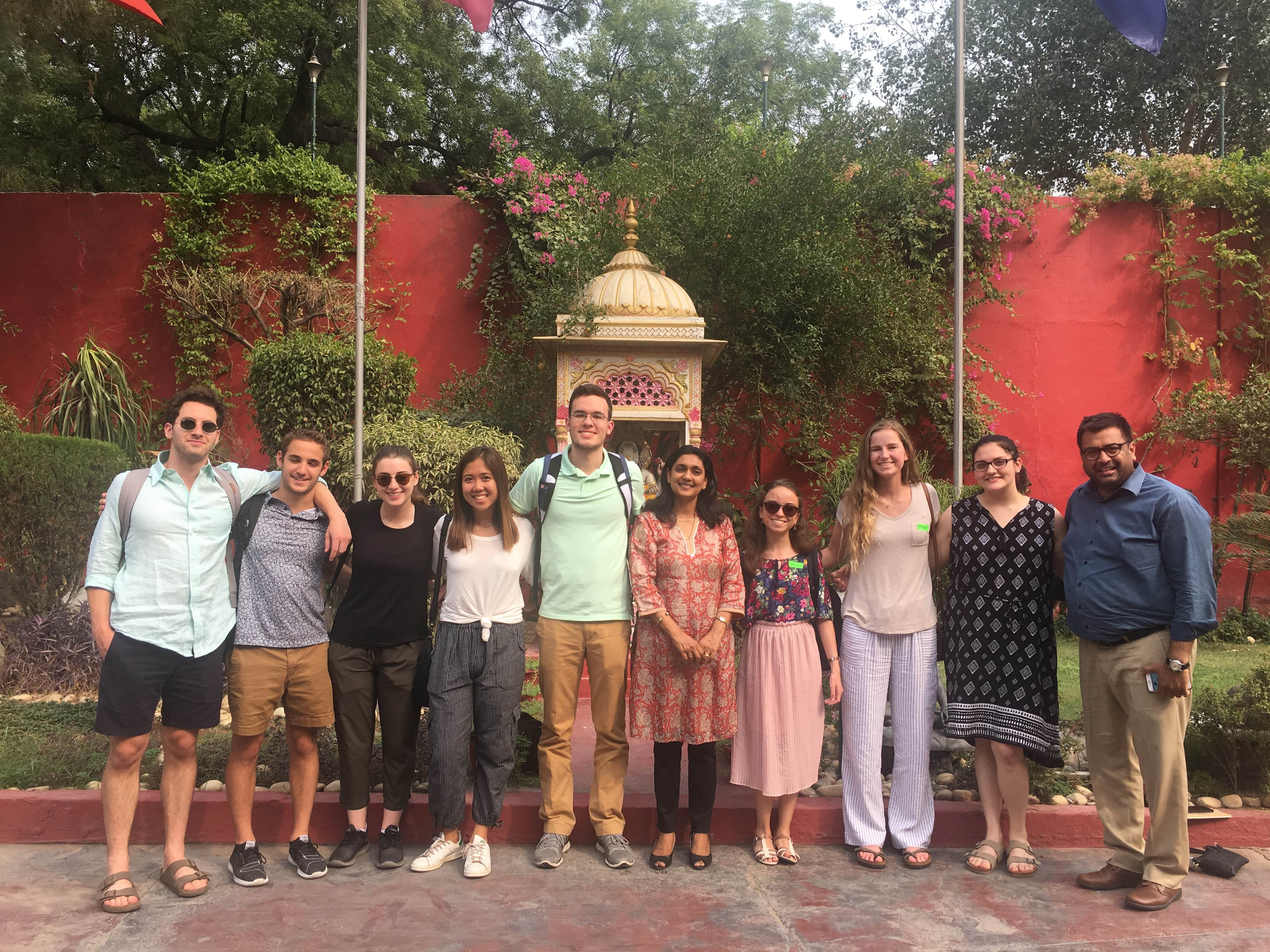 Student interns in Delhi, India